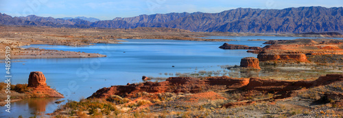 Photo Panoramic view of Lake Mead recreation area