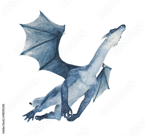 blue dragon flying out