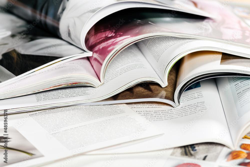 Fototapeta verschiedene Zeitschriften