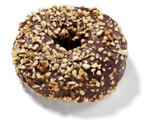 Chocolate Donut With Almonds