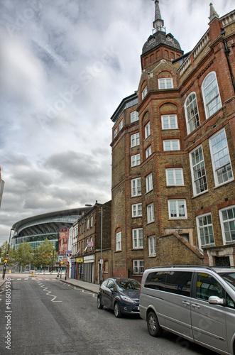 LONDON - SEP 30. Modern structure of Arsenal FC Emirates Stadium Canvas Print