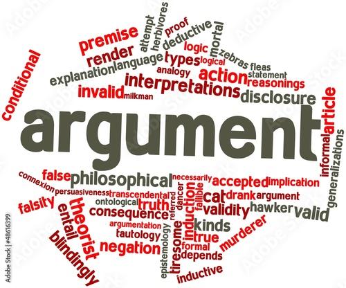 Word cloud for Argument Canvas Print