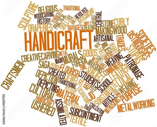 Photo Word cloud for Handicraft