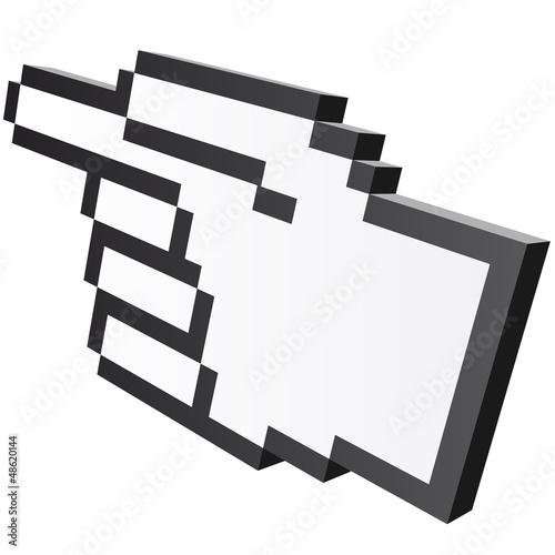 Foto op Aluminium Pixel 3D Pixelgrafik Hand - Zeigefinger