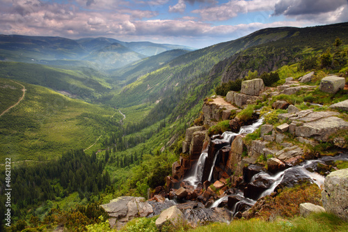 Pancavsky waterfall in Krkonose mountain - Czech republic Wallpaper Mural