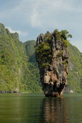 Obraz na Szkle Style boat tour around James Bond Island, Phang Nga Bay, Thailand