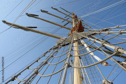 rigging and mast sailing ship © Alvov