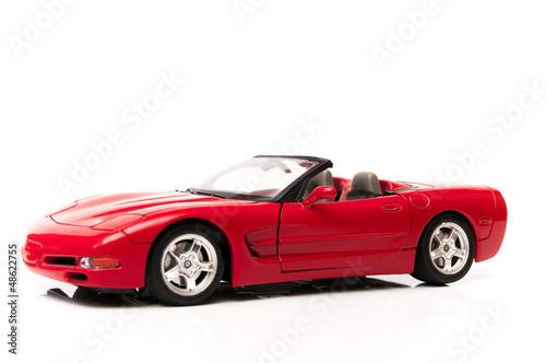 Fotobehang Snelle auto s corvette rojo