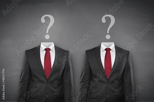 Question Mark with Suit Fototapet