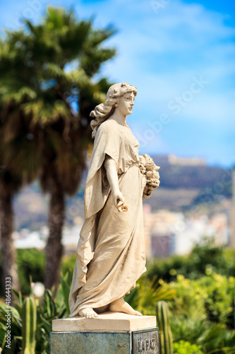 Small statue of La Paz (peace) in Ceuta, Spain