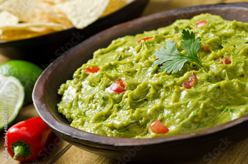 Guacamole with Avocado, Tomato, Cilantro, and Lime