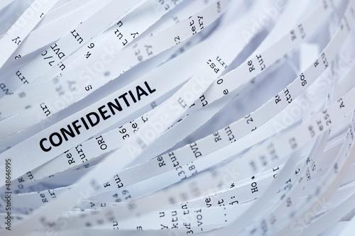 Fotografía  Pile of shredded paper - confidential