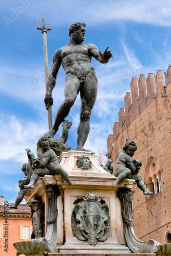 Fountain of Neptune in Bologna, Italy Wallpaper Mural