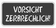 TF-Sticker eckig oc VORSICHT ZERBRECHLICH!
