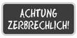 TF-Sticker eckig oc ACHTUNG ZERBRECHLICH!