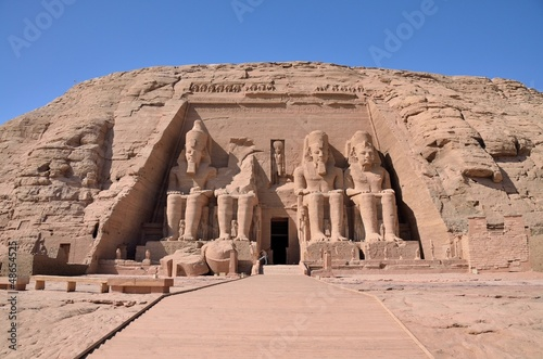 Photo Stands Egypt The Great Temple of Abu Simbel, Egypt