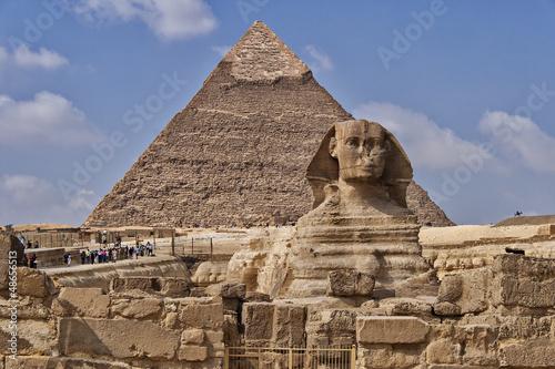 In de dag Egypte Pyramids and sphinx in Egypt