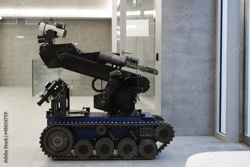 Valokuva  The police robot for working with bomb.