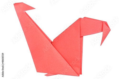 Poster Geometric animals chicken origami