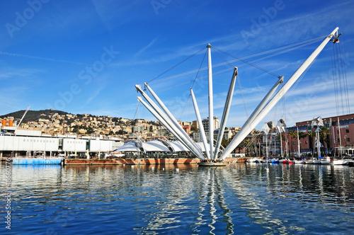 Genova,  Porto Antico Obraz na płótnie