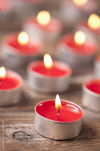 Doppelrollo mit Motiv - Kerzenschein