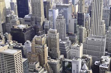 Небоскребы Манхэттана в Нью-Йорке
