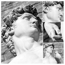 Collage With Details Of  David By Michelange