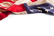 Vintage American Flag Border I...