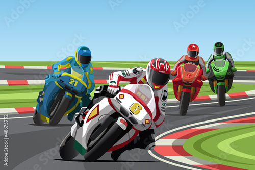Poster Motocyclette Motorcycle racing