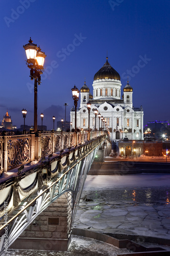 The temple of Christ the Savior. Night. Moscow. Russia © vesta48