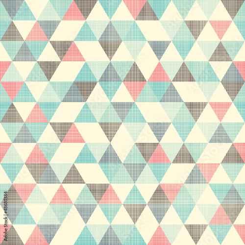 Foto-Fahne - seamless geometric pattern (von orangeberry)