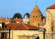 Ansicht eines Dorfs in der Bourgogne / Frankreich