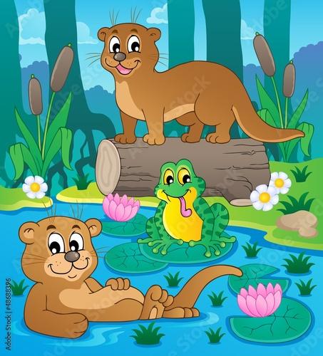 Canvas Prints River, lake River fauna theme image 3