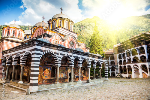 Photo Rila monastery, a famous monastery in Bulgaria
