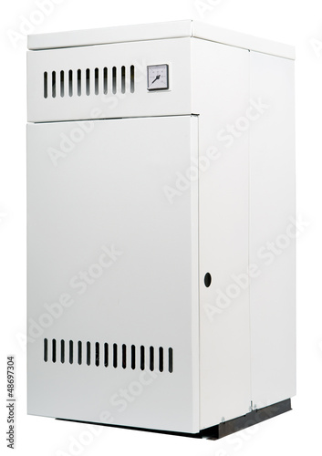 A residential gas heater, isolated on white Wallpaper Mural