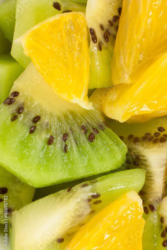 Foto op Aluminium Vruchten kiwi and orange