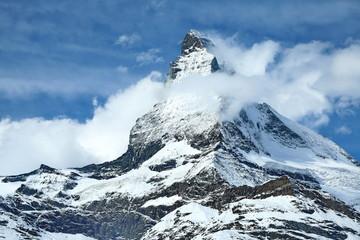 Panel Szklany Zima Matterhorn