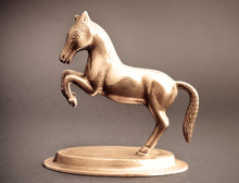 Horse From Bronze Isolated