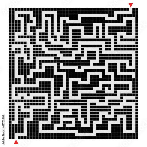 Fotografie, Obraz  Labyrinth pixel design
