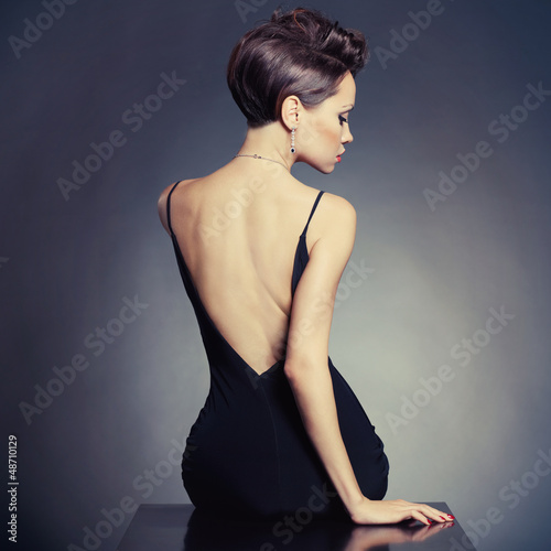Fotografie, Obraz  Elegant lady in evening dress