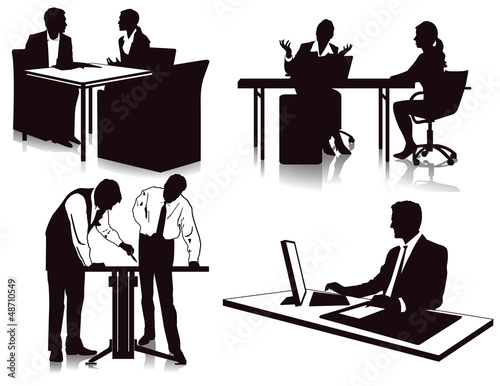 Im Buro Arbeiten Buy This Stock Vector And Explore Similar Vectors