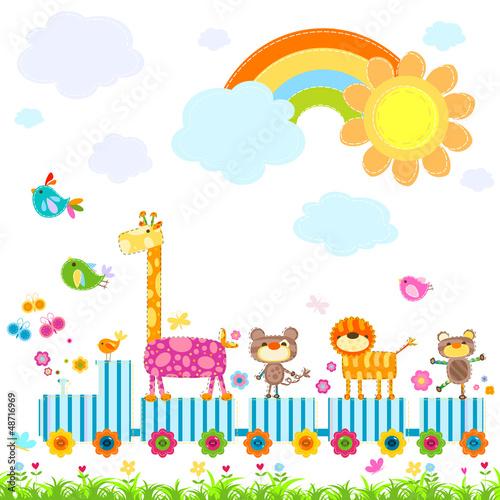 zoo train #48716969
