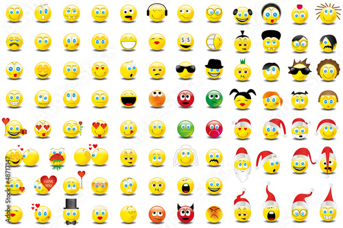 Smilies Smiley Emoticon Faces Icon Set 7 Buy This Stock Vector And