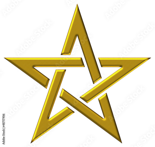 Photo  Pentagramm - Gold - Stern der Magier