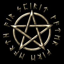 Runen Pentakel - Pentagramm - Elemente