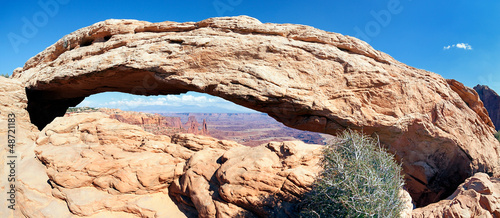 Door stickers Natural Park panoramic view of famous Mesa Arch