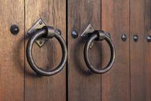 Old Medieval Metal Handles On ...
