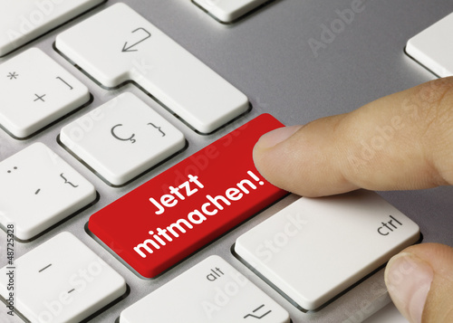 Photo Jetzt mitmachen! Tastatur. Finger