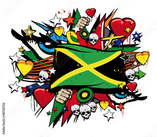 ilustracja-wektorowa-z-flaga-jamajki-i-grafitti-w-tle
