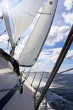 sailing on blue sea